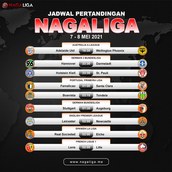 JADWAL PERTANDINGAN TGL 07-08 MEI 2021
