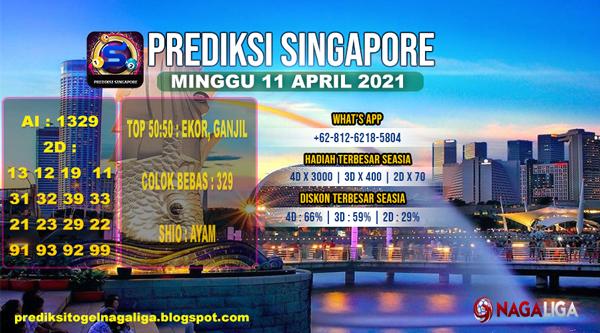 PREDIKSI SINGAPORE MINGGU 11 APRIL 2021