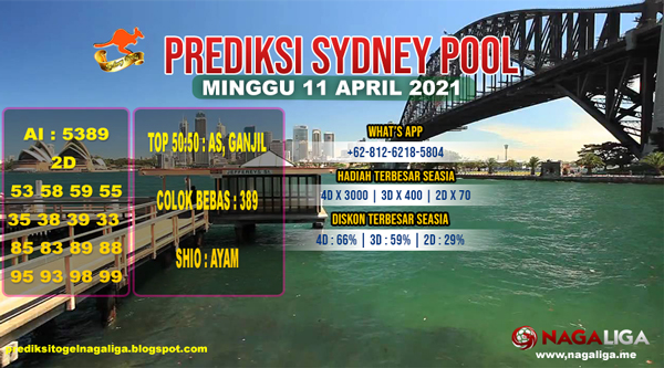 PREDIKSI SYDNEY MINGGU 11 APRIL 2021