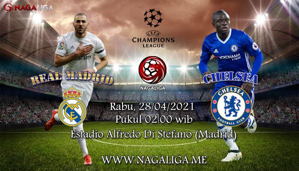 Prediksi Bola Real Madrid vs Chelsea 28 April 2021, antara Real Madrid vs Chelsea yang akan berlangsung diEstadio Alfredo Di Stéfano (Madrid).