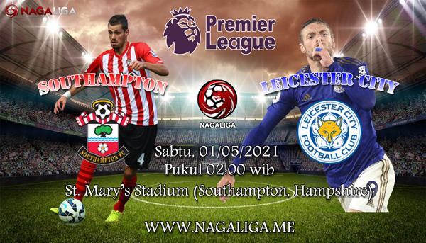 Prediksi Bola Southampton vs Leicester City 01 Mei 2021, antaraSouthampton vs Leicester City yang akan berlangsung diSt. Mary's Stadium (Southampton, Hampshire).