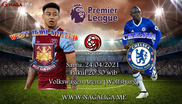 NagaLiga - Prediksi Bola West Ham United vs Chelsea 24 April 2021, antara West Ham United vs Chelseayang akan berlangsung diLondon Stadium (London).