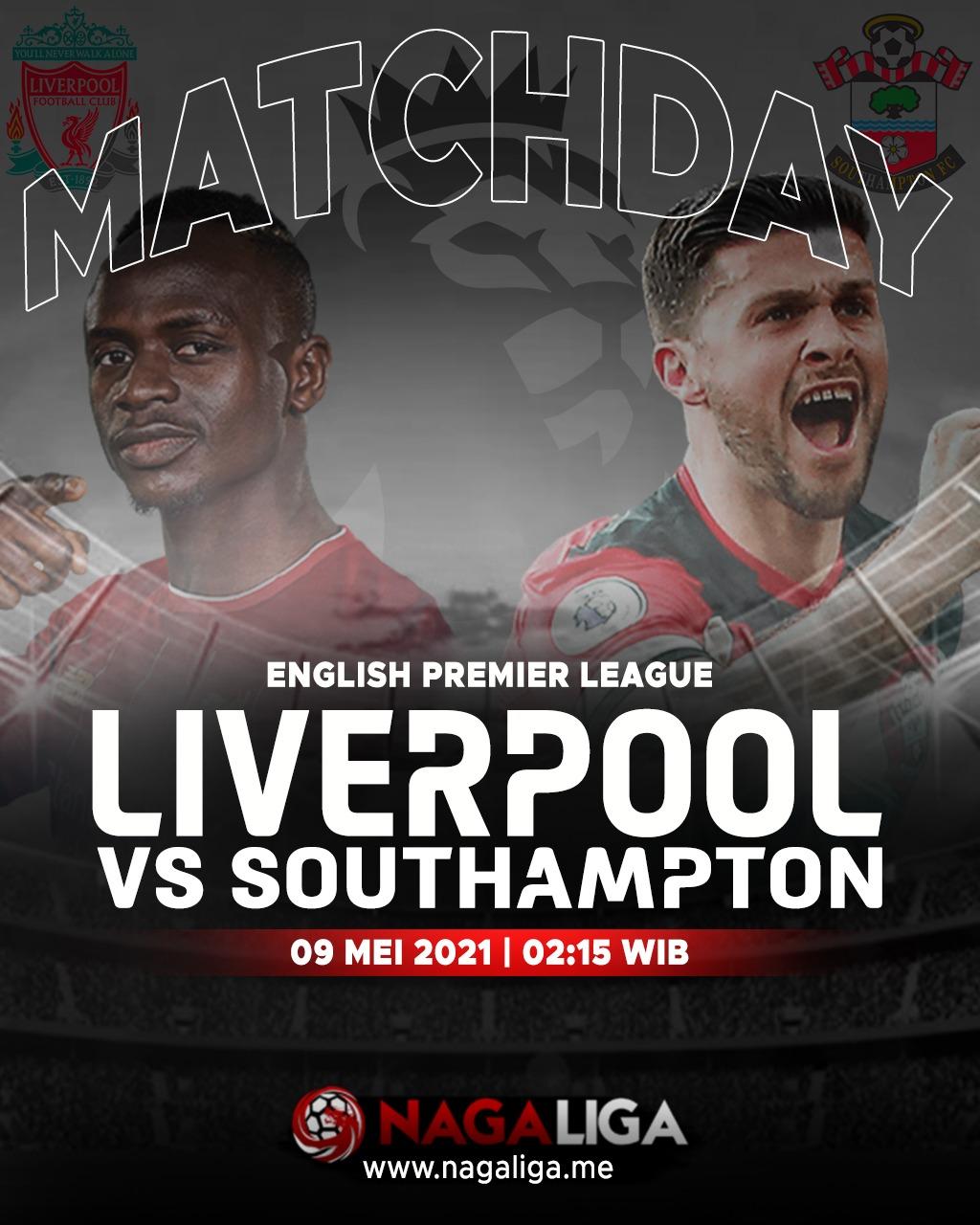 Jadwal Liverpool vs Southampton