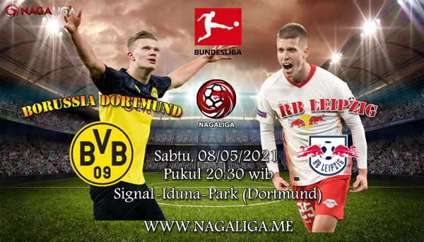 Prediksi Bola Borussia Dortmund vs RB Leipzig 08 Mei 2021, antara Borussia Dortmund vs RB Leipzigyang akan berlangsung diSignal-Iduna-Park (Dortmund).